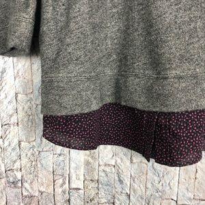LOFT Tops - Ann Taylor Loft Gray Peplum peter Pan collar